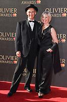 Mark Rylance &amp; Claire Van Kampen at The Olivier Awards 2017 at the Royal Albert Hall, London, UK. <br /> 09 April  2017<br /> Picture: Steve Vas/Featureflash/SilverHub 0208 004 5359 sales@silverhubmedia.com