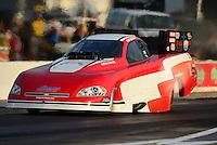Apr. 27, 2012; Baytown, TX, USA: NHRA funny car driver Gary Densham during qualifying for the Spring Nationals at Royal Purple Raceway. Mandatory Credit: Mark J. Rebilas-