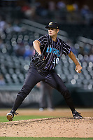 Charlotte Knights relief pitcher Cory Luebke (30) in action against the Norfolk Tides at BB&T BallPark on May 2, 2017 in Charlotte, North Carolina.  The Knights defeated the Tides 8-3.  (Brian Westerholt/Four Seam Images)