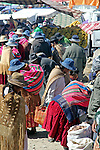 Souoth America, Bolivia, La Paz. Street market scene of El Alto neighborhood of La Paz.