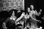Three women having a sing song, Saturday night at Byker & St.Peters Working Men's Social Club Newcastle upon Tyne, Tyne and Wear northern England 1973