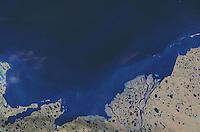 satellite image of Prudhoe Bay, Alaska