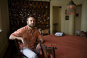 """March 27, 2008. Durham, NC.. Local film maker Josh Gibson. Gibson's film """" The Siamese Connection"""" about Cheng and Eng, will premiere at the Full Frame Documentary Film Festival."""