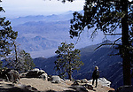 Hiker at top of Palm Springs Aerial Tram