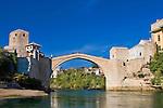 The 'new Old Bridge' over the Neretza River in Mostar, Hercegovina