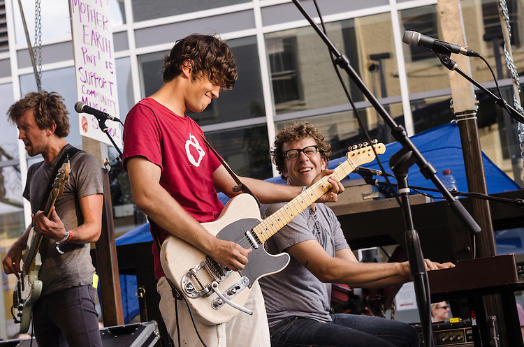William Tyler and Adam Granduciel joined Megafaun during their Martin Street day party during Hopscotch Music Festival. Raleigh, NC, September 8, 2012.