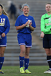 14 November 2014: South Dakota State's Tori Poole. The University of North Carolina Tar Heels hosted the South Dakota State University Jackrabbits at Fetzer Field in Chapel Hill, NC in a 2014 NCAA Division I Women's Soccer Tournament First Round match. UNC won the game 2-0.