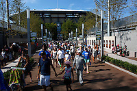 NEW YORK, NY AUG 27: People visit the USTA Billie Jean King National Tennis Center during a day of practice in Flushing Meadows, on August 27, 2016 in New York City. (Photo by VIEWpress)