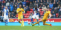 Blackburn Rovers' Marvin Emnes is tackled by Preston North End's Andy Boyle<br /> <br /> Photographer Stephen White/CameraSport<br /> <br /> The EFL Sky Bet Championship - Blackburn Rovers v Preston North End - Saturday 18th March 2017 - Ewood Park - Blackburn<br /> <br /> World Copyright &copy; 2017 CameraSport. All rights reserved. 43 Linden Ave. Countesthorpe. Leicester. England. LE8 5PG - Tel: +44 (0) 116 277 4147 - admin@camerasport.com - www.camerasport.com