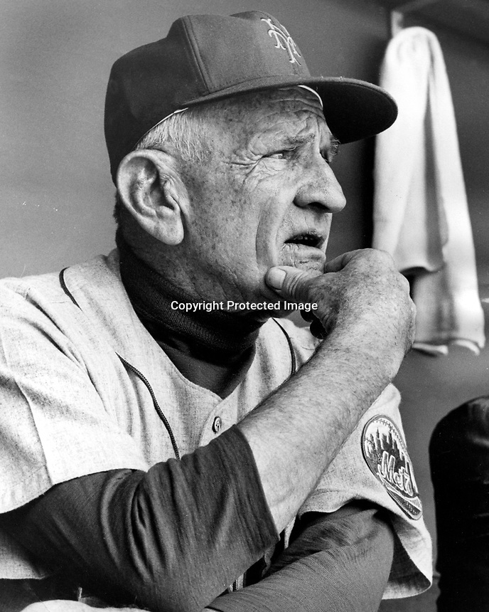 New York Mets manager Casey Stengle..(1962 photo/Ron Riesterer)
