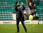 Hibs v St Johnstone...21.01.12.Steve Lomas applauds the saints fans at full time.Picture by Graeme Hart..Copyright Perthshire Picture Agency.Tel: 01738 623350  Mobile: 07990 594431