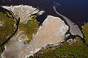 Kenya, Rift Valley, Lake Magadi from the air