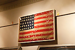 USA, Indiana, Indianapolis, Indiana War Memorial, regimental flag from Civil War.