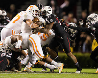Columbia, SC - November 1, 2014: The USC Gamecocks lose to the Tennessee Volunteers 45-42 in an overtime NCAA game at Williams-Brice Stadium.