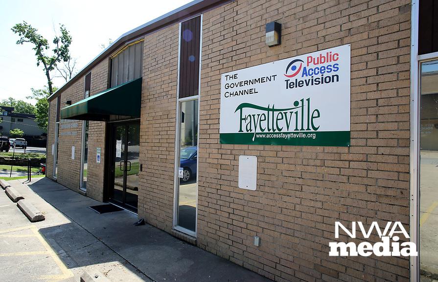 NWA Democrat-Gazette/DAVID GOTTSCHALK The exterior Thursday, May 11, 2017, of the Fayetteville Public Television on W. Rock Street in Fayetteville.
