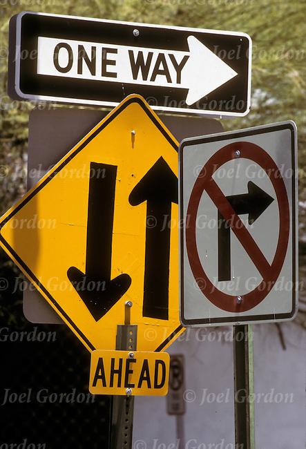 confusing road signs joel gordon photography
