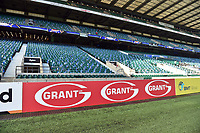 A general view of a Grant UK billboard alongside the pitch. The Clash, Aviva Premiership match, between Bath Rugby and Leicester Tigers on April 8, 2017 at Twickenham Stadium in London, England. Photo by: Patrick Khachfe / Onside Images
