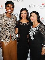 HOLLYWOOD, LOS ANGELES, CA, USA - OCTOBER 09: Eva Longoria, Dolores Huerta arrive at the Eva Longoria Foundation Dinner held at Beso Restaurant on October 9, 2014 in Hollywood, Los Angeles, California, United States. (Photo by Celebrity Monitor)