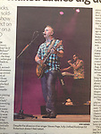 Image of Barenaked Ladies from their 07/06/12 performance at the Toledo Zoo, published in the Idaho Statesman newspaper. (photo of the paper courtesy of Lou Perlaky)