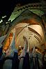 hooded penitents leaving the parrish church Saint Bartholomew for a traditional Holy Week street procession<br /> <br /> Cofradias saliendo de la paroquia San Bartolome (cat.: Sant Bartomeu) para una procescion de la Semana Santa<br /> <br /> Buesser in tradtionellen Gew&auml;ndern mit spitzen H&uuml;ten verlassen die Pfarrkirche St. Bartolomaeus zur Karwochen-Prozession<br /> <br /> 3008 x 2000 px<br /> 150 dpi: 50,94 x 33,87 cm<br /> 300 dpi: 25,47 x 16,93 cm