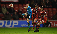 Fleetwood Town's Ashley Hunter's shot hits the bar<br /> <br /> Photographer Dave Howarth/CameraSport<br /> <br /> The EFL Sky Bet League One - Walsall v Fleetwood Town - Tuesday 14th March 2017 - Banks's Stadium - Walsall<br /> <br /> World Copyright &copy; 2017 CameraSport. All rights reserved. 43 Linden Ave. Countesthorpe. Leicester. England. LE8 5PG - Tel: +44 (0) 116 277 4147 - admin@camerasport.com - www.camerasport.com