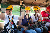 Riding up to go Ziplining on the Big island with Kohala zipline