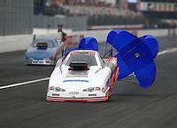 Feb 7, 2015; Pomona, CA, USA; NHRA top alcohol funny car driver Jonnie Lindberg during the Winternationals at Auto Club Raceway at Pomona. Mandatory Credit: Mark J. Rebilas-USA TODAY Sports