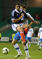 Scotland U21 Liam Palmer vies for the ball