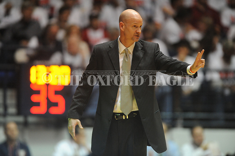 Ole Miss head coach Andy Kennedy vs. Kentucky at the C.M. &quot;Tad&quot; Smith Coliseum on Tuesday, January 29, 2013.  (AP Photo/Oxford Eagle, Bruce Newman)..