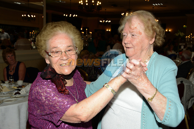 Mairead Harvey and Mary Theresa Reilly enjoying the Lions Club Tea dance in the Westcourt Hotel on Sunday.