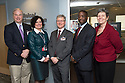 From left, John Brumsted, M.D., Dean, Patricia Prelock, Ph.D., Dean Rick Morin, M.D., Ted James, M.D., Cate Nicholas, Ed.D. Simulation center open house.