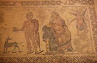 Europe/Chypre/Paphos : Mosaïque de Paphos dans la maison de Dyonisos - Phèdre et Hypolite