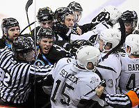 during the third period of an AHL hockey game, Tuesday, April 10, 2012, in San Antonio. San Antonio won 4-1. (Darren Abate/pressphotointl.com)
