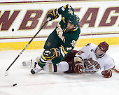 Drew MacKenzie (Vermont - 2), Paul Carey (BC - 22) - The Boston College Eagles defeated the visiting University of Vermont Catamounts 6-0 on Sunday, November 28, 2010, at Conte Forum in Chestnut Hill, Massachusetts.