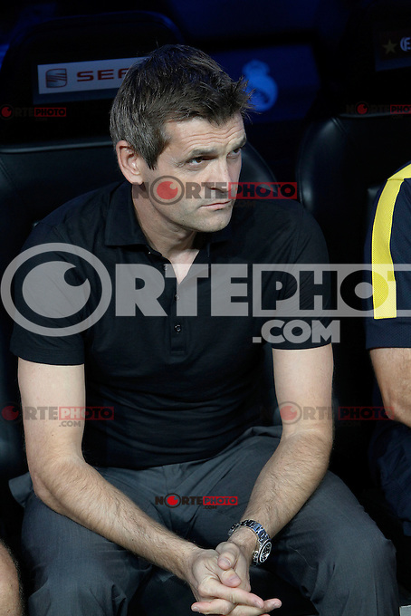 F.C. Barcelona's Tito Vilanova during Spanish Supercup 2nd match on august 29 2012...Photo: Alex Cid-Fuentes / ALFAQUI /NortePhoto.com<br />