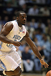 08 November 2008: North Carolina's Ty Lawson. The University of North Carolina Tarheels defeated the University of North Carolina at Pembroke Braves 102-62 at the Dean E. Smith Center in Chapel Hill, NC in an NCAA exhibition basketball game.