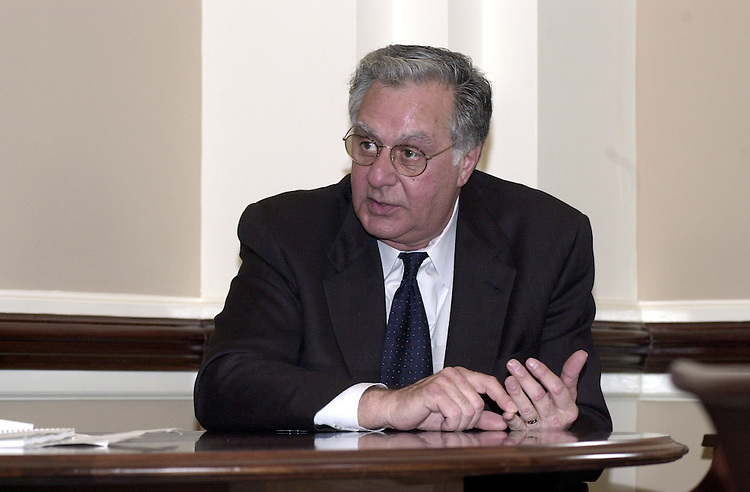 5armey031301 -- Dick Armey, R-Texas, during an interview in his office in the U.S. Capitol.