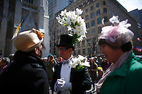 People stand up at the Fifth avenue during the annual easter parade in Manhattan, New York, 03.27.2016. This annual tradition has been taking place in New York City for over 100 years, Photo by VIEWpress.
