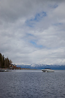 """Boat on Lake Tahoe 3"" - This boat was photographed on the West shore of Lake Tahoe."