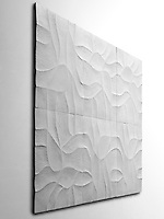 Giovanni Barbieri 24x24 inch Shades carved tile in White.