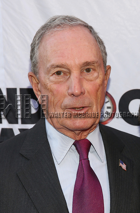 Michael Bloomberg attends the Broadway Opening Night performance of 'Groundhog Day' at the August Wilson Theatre on April 17, 2017 in New York City