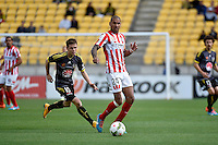Patrick Kisnorbo in action during the A League - Wellington Phoenix v Melbourne City at Westpac Stadium, Wellington, New Zealand on Sunday 30 November 2014.
