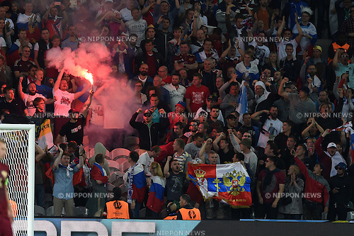 Supporters (Russia) ; <br /> June 15, 2016 - Football : Uefa Euro France 2016, Group B, Russia 1-2 Slovakia at Stade Pierre Mauroy, Lille Metropole, France. (Photo by aicfoto/AFLO)