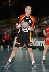 Handball Herren, Laenderspiel, UNIVERSA-CUP Hanns-Martin-Schleyerhalle Stuttgart (Germany) Nationalmannschaften, Deutschland - Tschechien Stefan Kretzschmar (GER) haelt den Ball in den Haenden