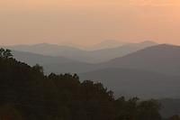 Blue Ridge Mountains sunset.