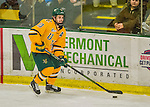 19 February 2016: University of Vermont Catamount Forward Travis Blanleil, a Sophomore from Kelowna, British Columbia, in second period action against the Boston College Eagles at Gutterson Fieldhouse in Burlington, Vermont. The Eagles defeated the Catamounts 3-1 in the first game of their weekend series. Mandatory Credit: Ed Wolfstein Photo *** RAW (NEF) Image File Available ***