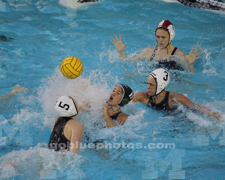 The University of Michigan's women's water polo team lost 7-5 to No.10 Hawaii in the Stanford Invitational at Palo Alto, Calif., on February 4, 2012