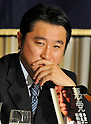 July 28, 2011, Tokyo, Japan - Japanese politician Tomohiro Ishikawa, who used to  work with Ichiro Ozawa, speaks during a news conference at the foreign press club in Tokyo on July 28, 2011. He is now an independent lawmaker for the House of Representatives. Ishikawa was indicted for the charge of  falsifying financial reports of Ozawa's fund managing. On July 20, the prosecutor sought two years imprisonment for Ishikawa who has denied being aware of the misreporting. (Photo by AFLO) [3620] -mis-