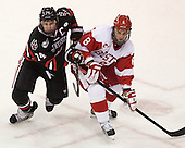 Vinny Saponari (NU - 74), Ben Rosen (BU - 8) - The Boston University Terriers defeated the visiting Northeastern University Huskies 5-0 on senior night Saturday, March 9, 2013, at Agganis Arena in Boston, Massachusetts.