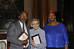 Henri J. Desrosiers NP, Letitia Soloway, and Rose Guerrier at 2nd Annual Interfaith Memorial Service for Haiti, at Brooklyn Borough Hall, Brooklyn, New York, USA, on January 11 2012, two years after the Mw 7.0 earthquake in Haiti.